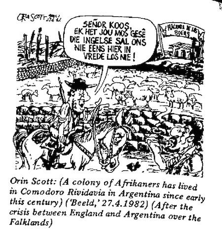 Orin Scott- Crisis in the Falklands cartoon
