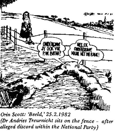 Orin Scott- Fence Sitting cartoon