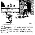C.W. Shackleton- German Eagle cartoon