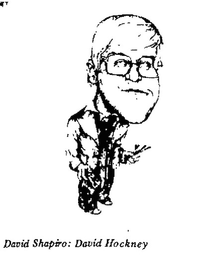 David Shapiro - David Hockney cartoon