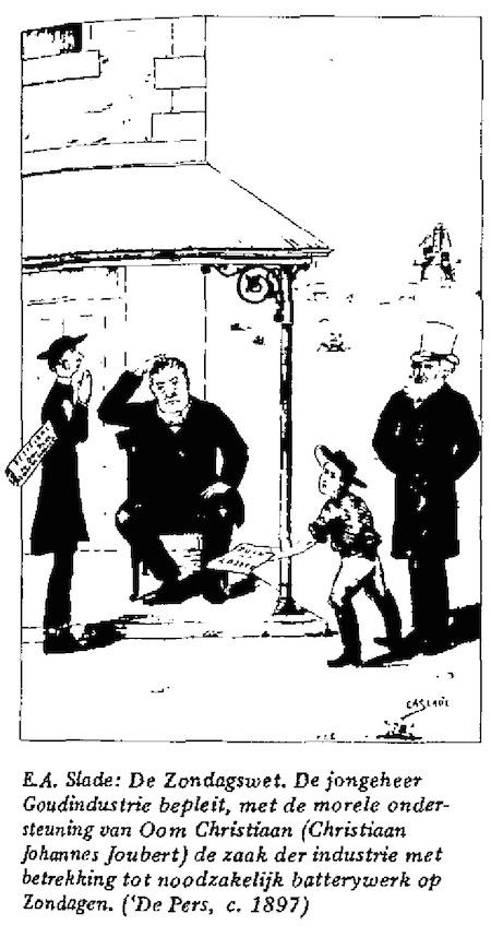 E.A. Slade- De Zondagswet cartoon