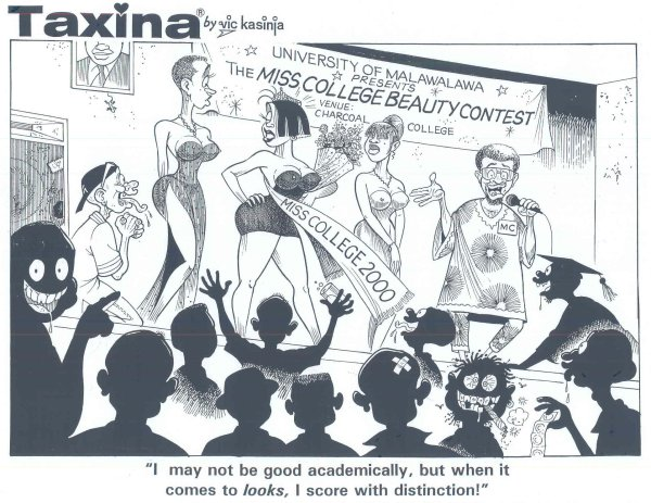 Vic Kasinja - Taxina in a College Beauty Contest