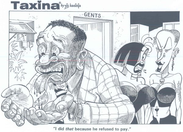 Vic Kasinja - Taxina Bites off Tongue of Client Who Refused to Pay