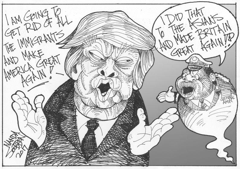 Nanda Soobben – Trump Idi Amin Africa Cartoons