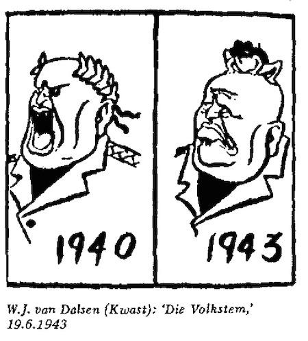 WJ Van Dalsen- Die Volkstem cartoon
