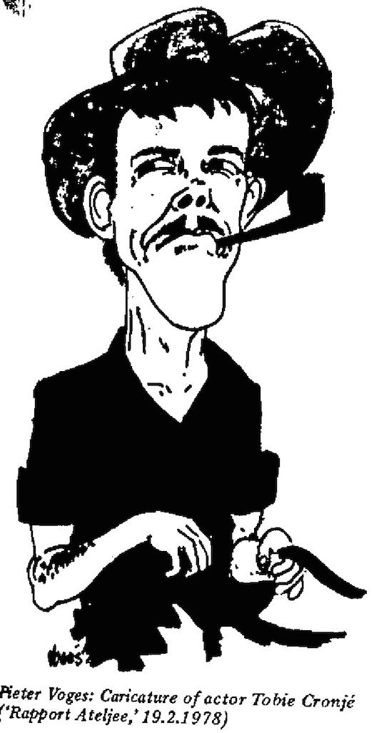 Pieter Voges- Caricature of Tobie Cronje