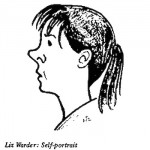Liz Warder- Self Portrait cartoon
