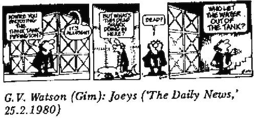 GV Watson- Tank cartoon