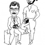 HO Wiggins- Caricature of Dr. Prins and Self