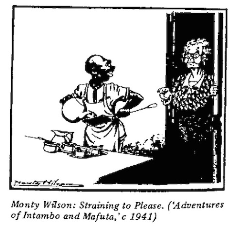 Monty Wilson- Straining To Please cartoon