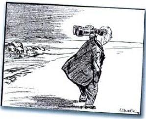 H.E. Winder- Dr. Malan Looks at the Future cartoon