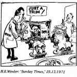 H.E. Winder- Just a Trim cartoon
