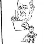 H.E. Winder- Self Caricature