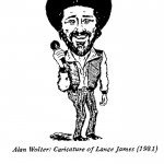 Alan Wolter- Caricature of Lance James