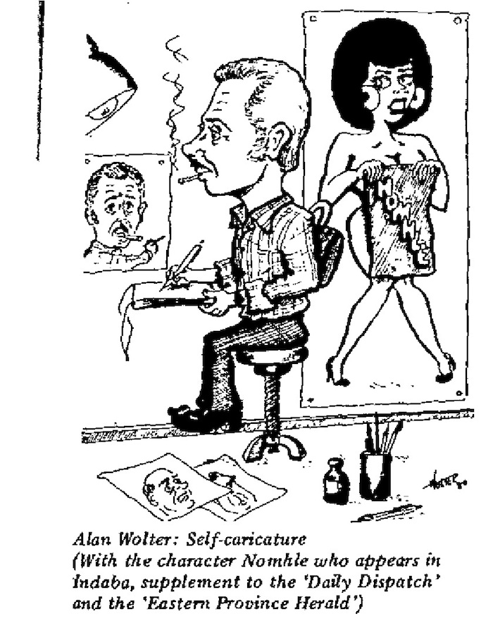 Alan Wolter- Self Caricature